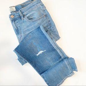 J.Crew Medium Wash Broken-in Boyfriend Cut Jeans